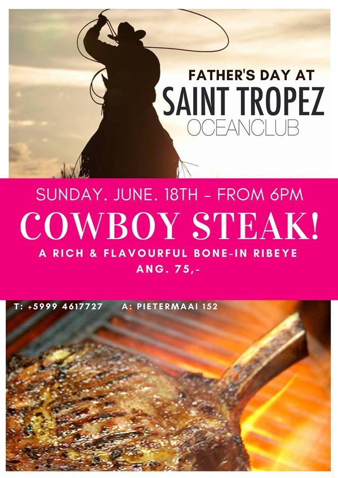 Dinner with Dad: Cowboy steak!