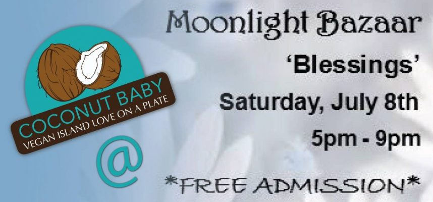Coconut baby at the moonlight bazaar- Coconut Baby- Barbados 8 july